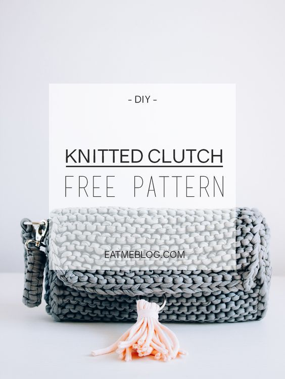 Easy knitted clutch _ free pattern. Check it now or save for later ...