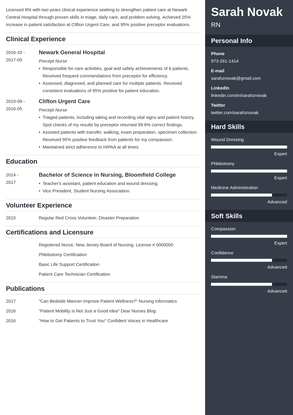 nursing student resume example template enfold in 2020