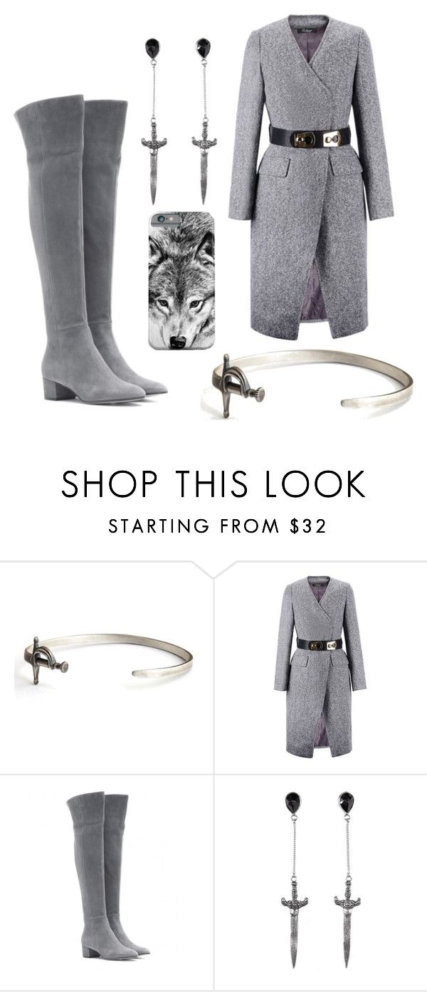 """GOT: MODERN STARK"" by thesassenach ❤ liked on Polyvore featuring Gianvito Rossi, 21dgrs and modern"