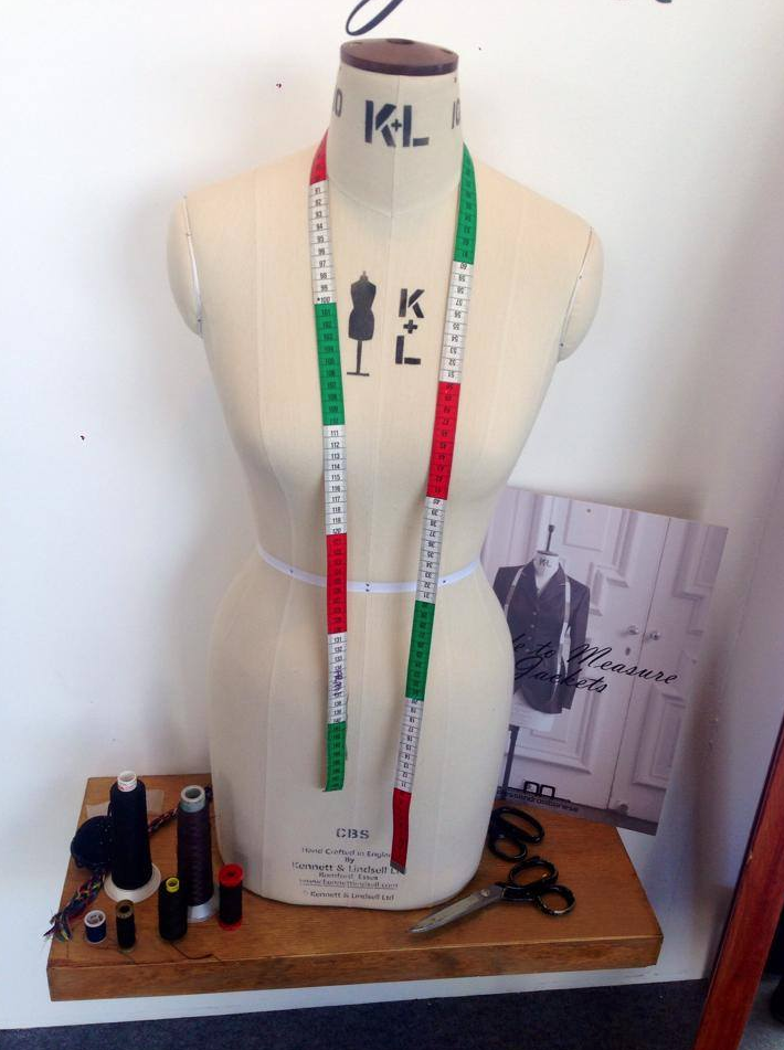 Our tailor's props at our stand at WEG. #alessandroalbanese #weg2014 #fashion