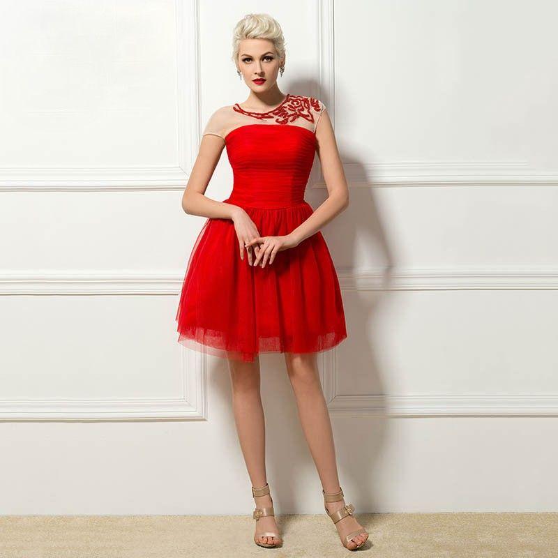 Abendkleid Kurz Rot