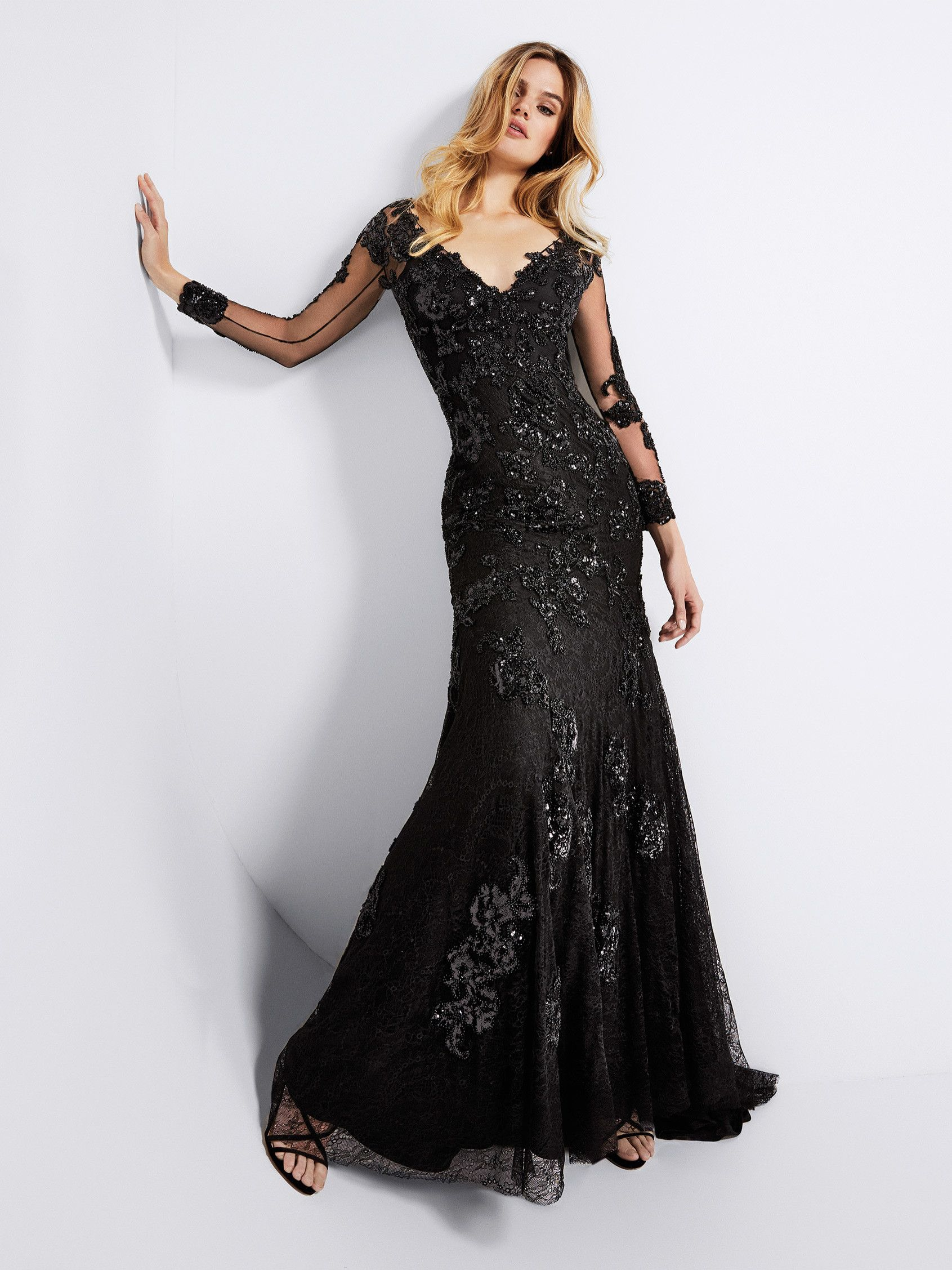 Black Gown Evening Wedding Dresses Cocktail Bridesmaid Dresses Sophisticated Dress