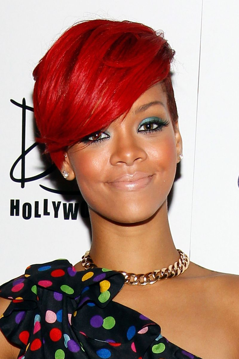12 Cool Ombre Color Ideas For Red Hair Short Red Hair Rihanna Red Hair Short Hair Color