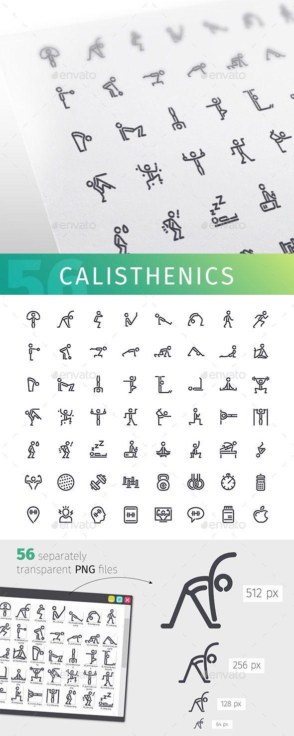 Wireless icon line iconset iconsmind - Calisthenics Line Icons Set