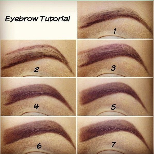 Easy Eyebrow Makeup Tutorial- These eyebrows kind of scare me, but ...