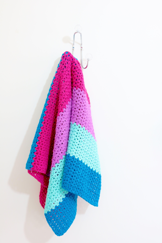 Colourful V stitch Blanket   Jewels   Bella Coco Store   Bella coco ...