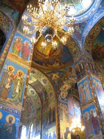 St. Petersburg, Russia: Church on Spilled Blood (inside)
