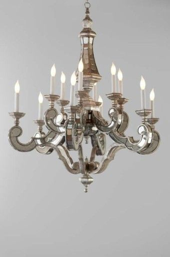 Candace Barnes Venetian Style Antique Mirror Chandelier