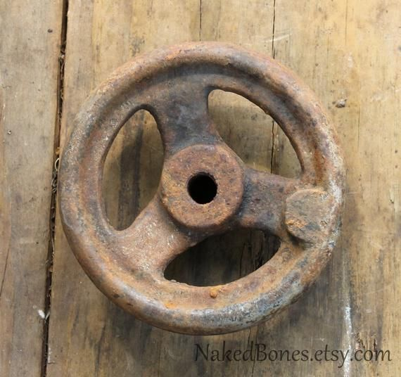 Small Valve Wheel Vintage Cast Iron Wheel Shut Off Wheel