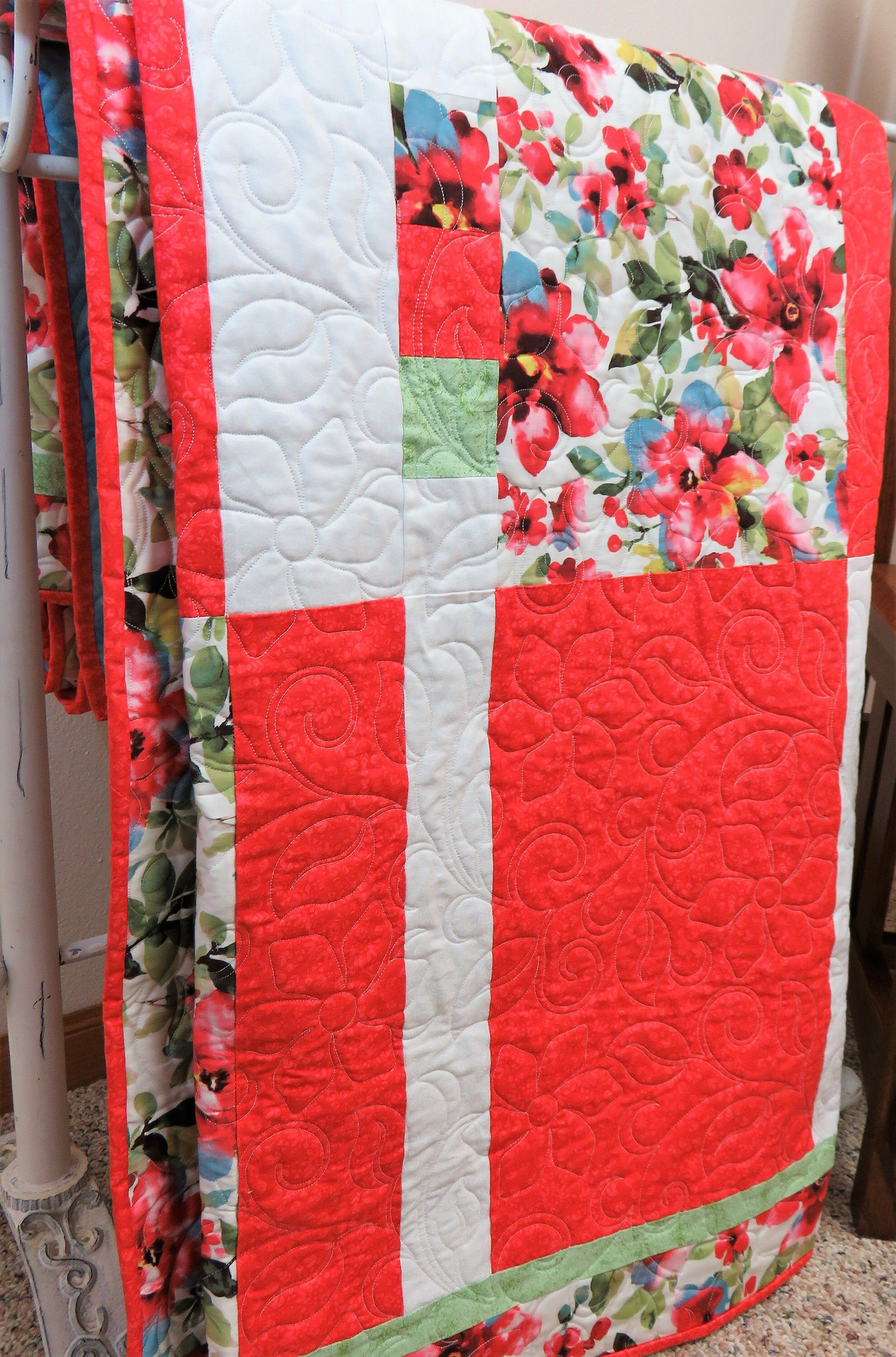 Handmade Quilt for Sale, Handmade Queen Size Quilt, Double Size