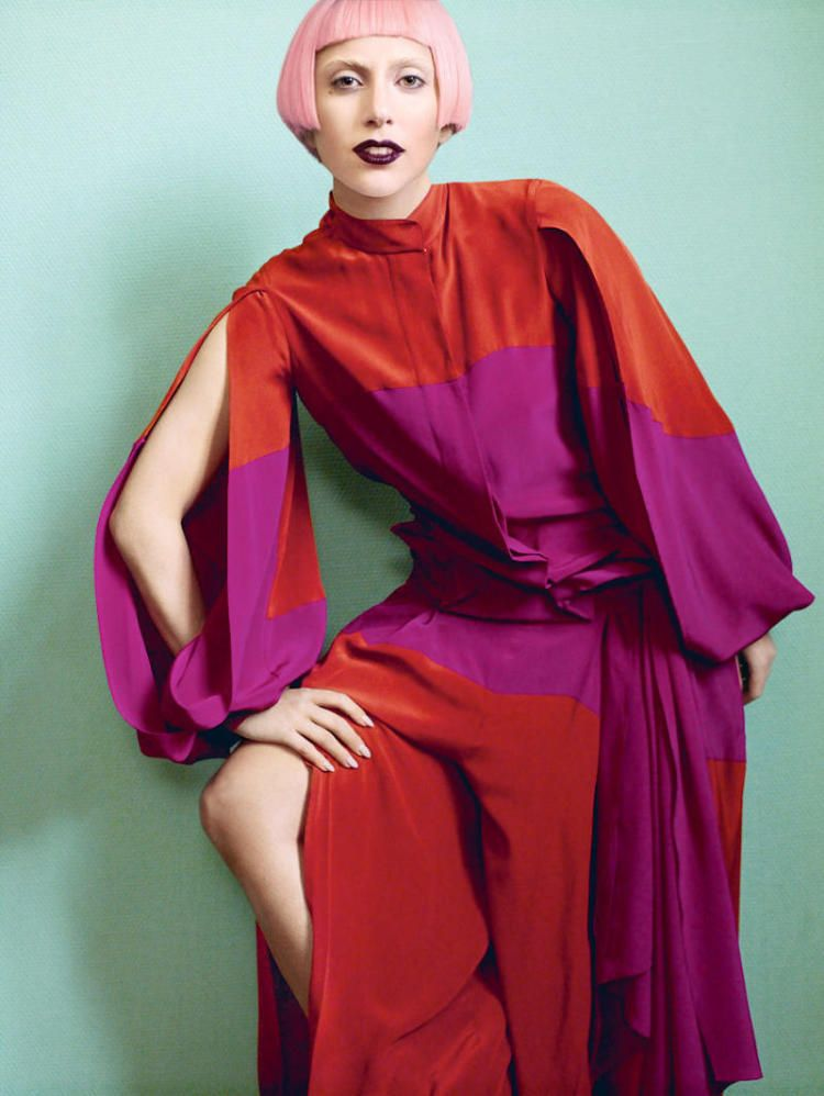 Photographed by Mario Testino and styled by Tonne Goodman, Lady Gaga appears in the March 2011 issue of Vogue US. The queen of pop (and Twitter) wears a pink bobbed wig and amazing outfits by Alexander McQueen, Louis Vuitton, Haider Ackermann and others. The editorial was shot at the Royal Museum of Fine Arts, Antwerp, Belgium in November 2010.Like it or not, Gaga is beginning to look like rock-and-roll royalty.Vogue US' website