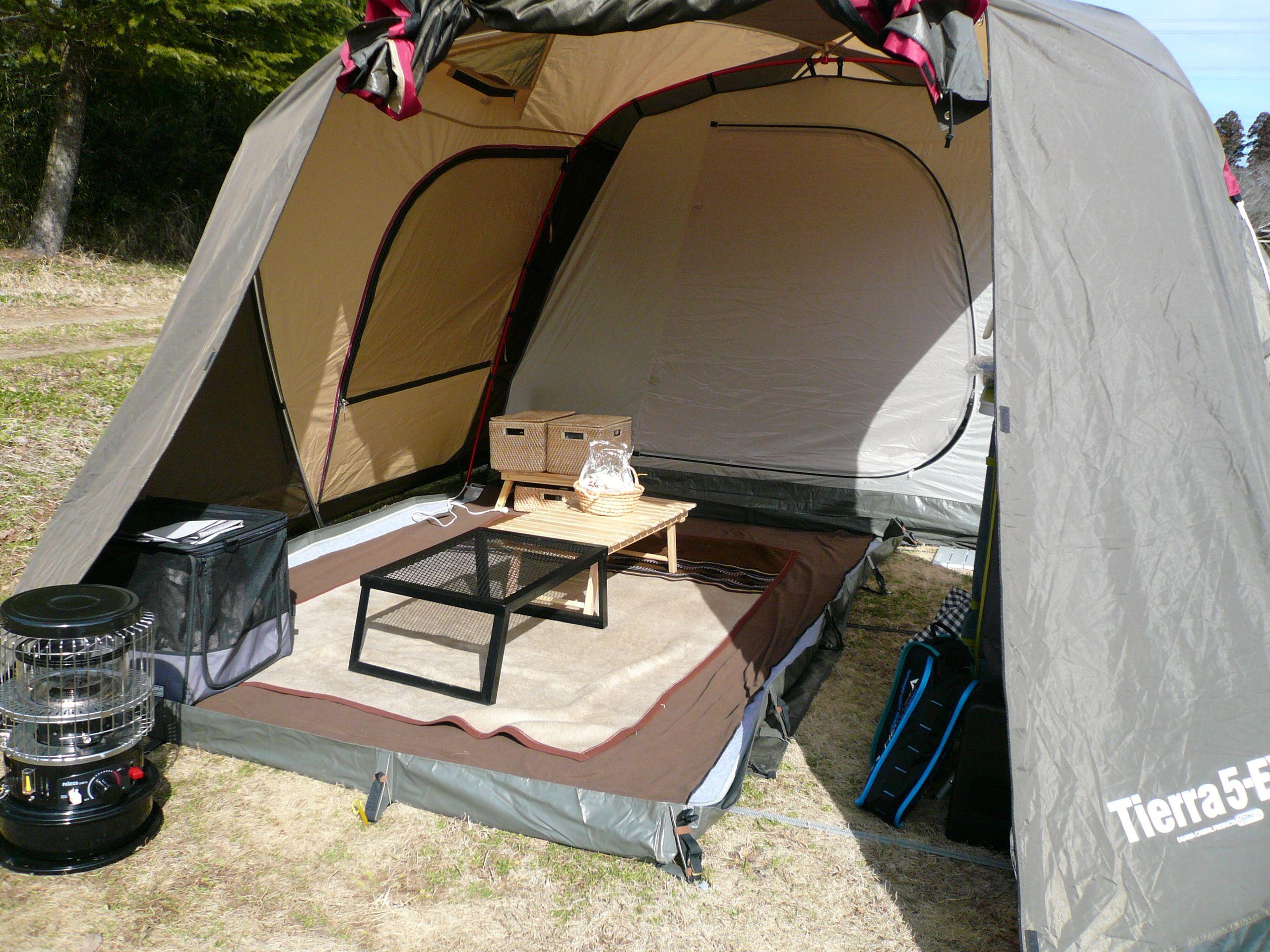 テントの前室をお座敷に #Ogawacampal #Tierra5EX #Camp