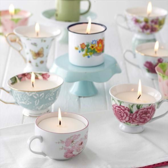 teacup candles home candles decorate teacup diy crafts lighten up