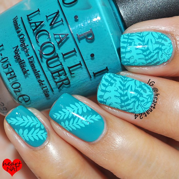Tropical Leaves with MoYou London Tropical 13