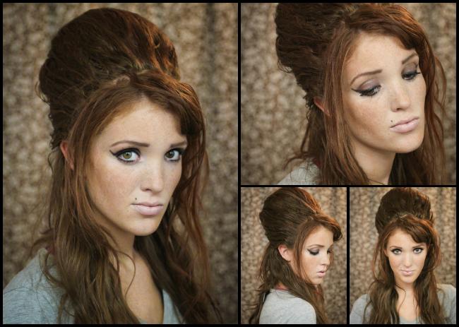 Pin By Yasmeen Sadeque On Hair Hair Styles Beehive Hair Tutorial Short Hair Styles Easy