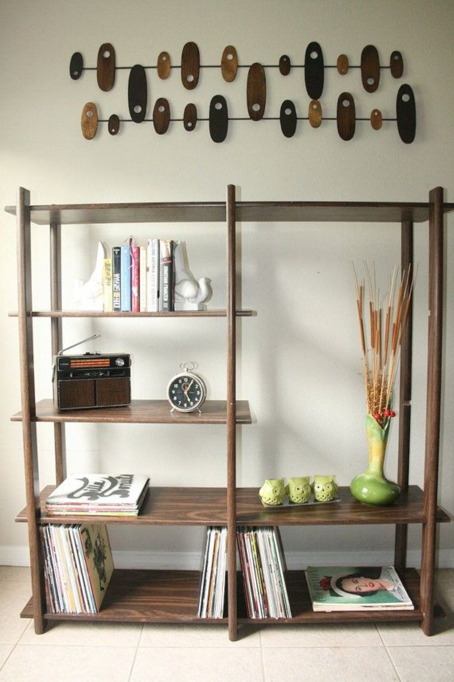 Stunning modern bookshelves with some archaically midcentury lines