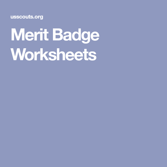 Merit Badge Worksheets Scout Ideas Pinterest Merit Badge