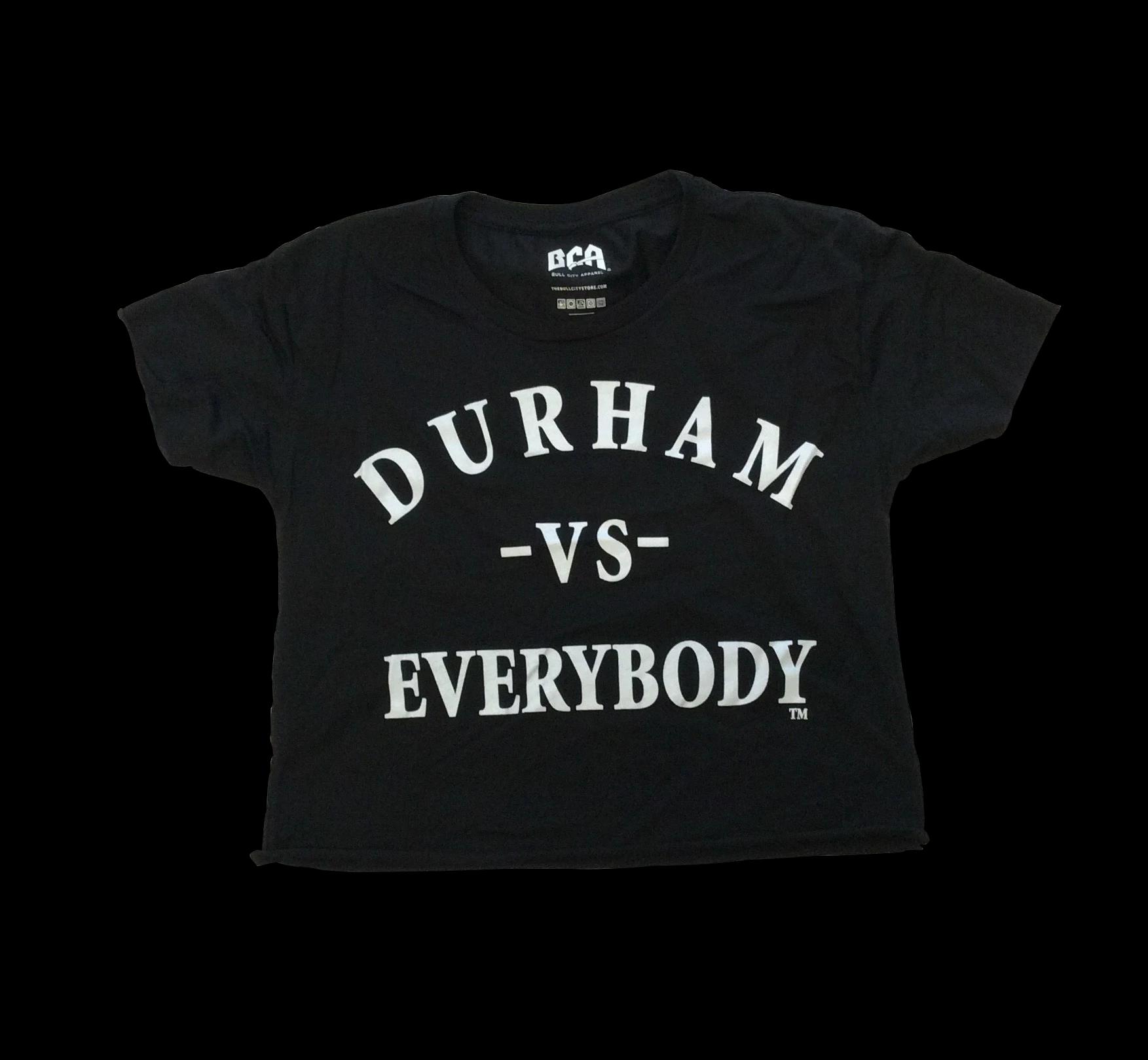 Durham Vs Everybody Crop Tee T Shirt Durham Mens Tops