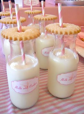 "Tea Cookie make perfect milk- bottle toppers.  See more ""pink"" ideas @: Oh Sugar Events: ballet"