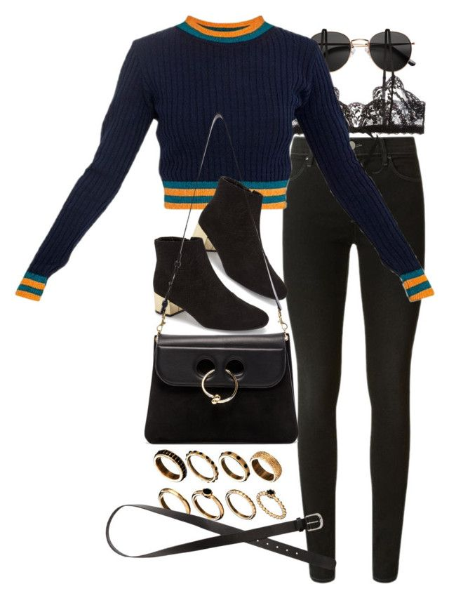 """Untitled #10538"" by nikka-phillips ❤ liked on Polyvore featuring H&M, J Brand, Hanky Panky, Topshop, J.W. Anderson and ASOS"
