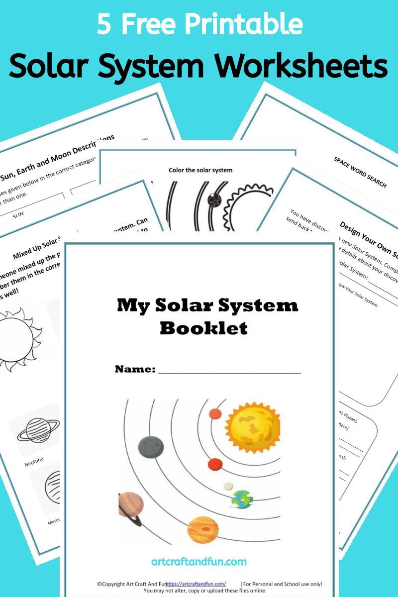 Free Printable Solar System Worksheets In 2020 Solar System Worksheets My Solar System Solar System