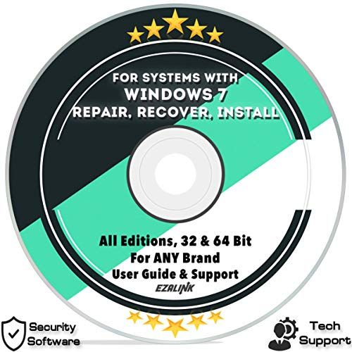 Ezalink Disc for Windows 7 SP1 Repair Install Recovery Restore Boot Fix DVD  32  64 Bit