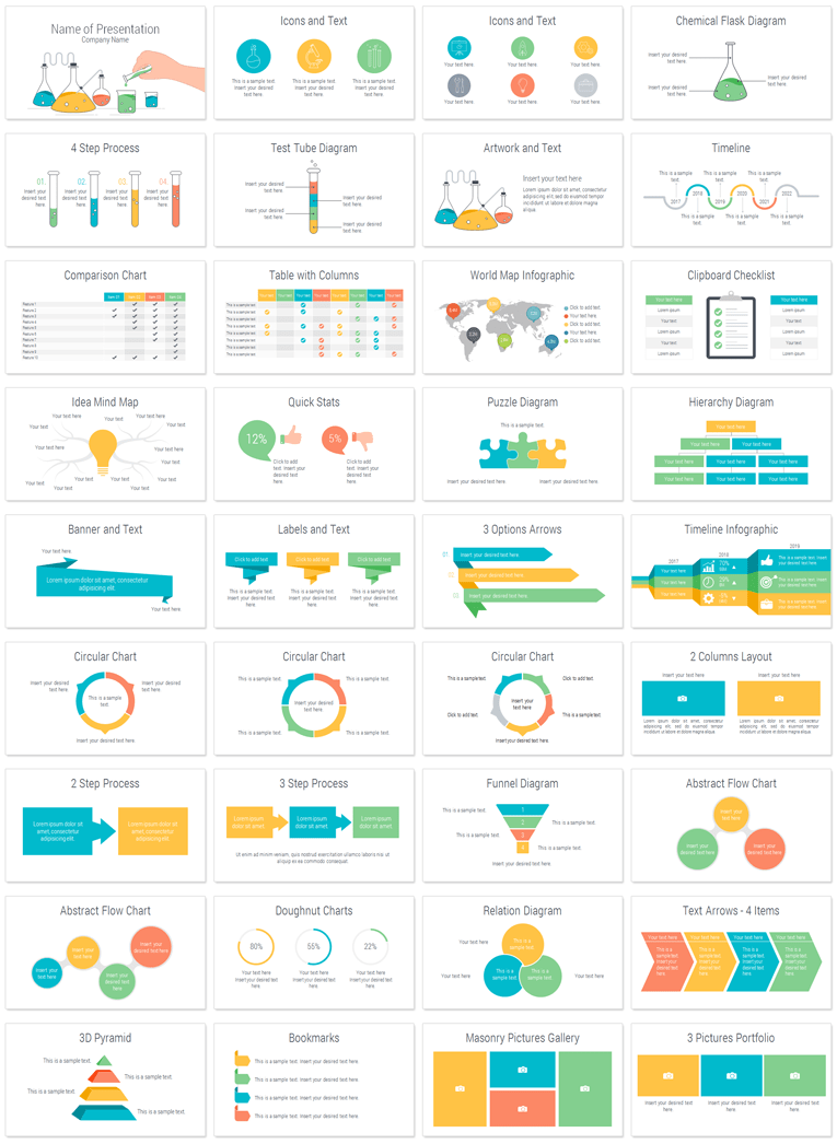 Science Powerpoint Template Powerpoint Templates Pinterest