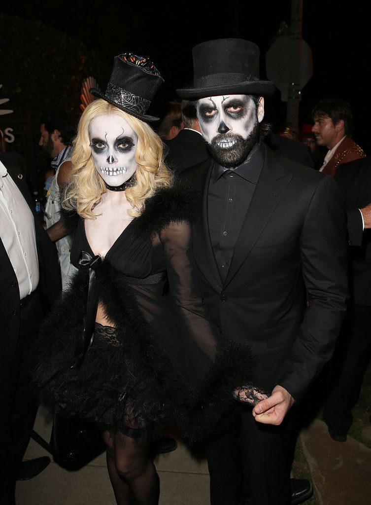 Maks and Peta at Casamigos Tequila Halloween Party