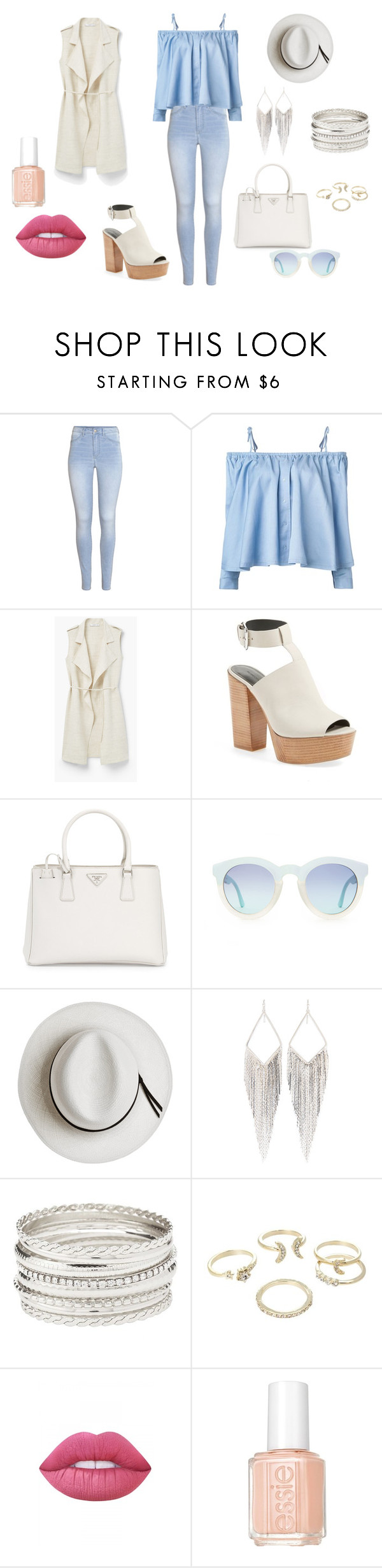 """""""spring"""" by armariodevero on Polyvore featuring moda, H&M, Sandy Liang, MANGO, Rebecca Minkoff, Prada, Calypso Private Label, Jules Smith, Charlotte Russe y Lipsy"""