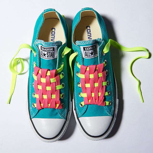 ed60767b644eaa Cool Ways to Lace Your Converse Shoes - Checkerboard