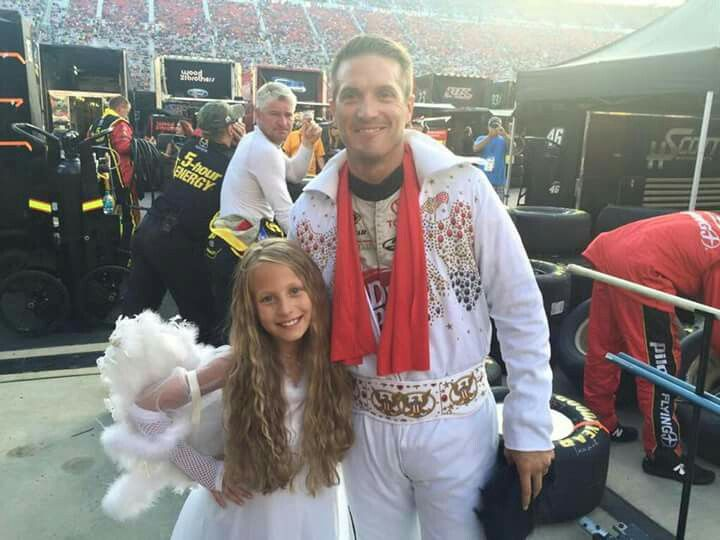 JJ yeley and daughter. Bristol