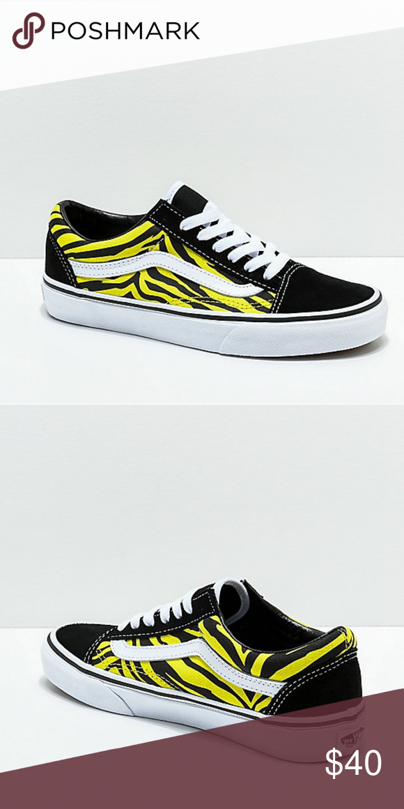 0c9c1640833231 Vans Old Skool Green   Black Zebra Print Never worn and still in box pair  of Van s. Size 8 for women Vans Shoes Sneakers