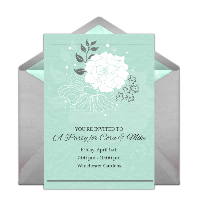 Free floral mint gray invitations invitation templates free floral mint gray invitations online invitationsinvitation templatesbridal shower filmwisefo