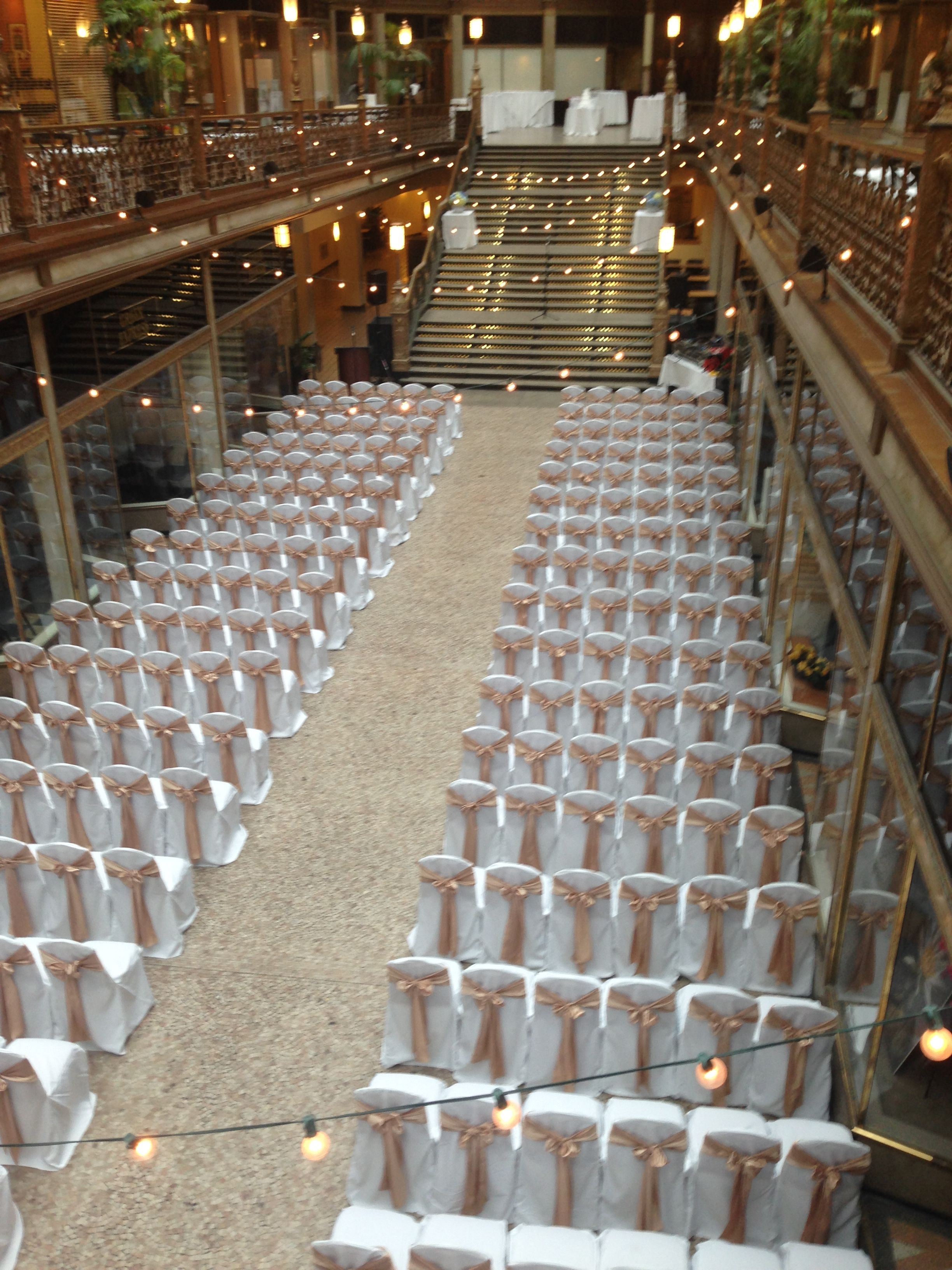 outdoor wedding ceremony sites in akron ohio%0A The Arcade set for a beautiful wedding ceremony  http   cleveland hyatt