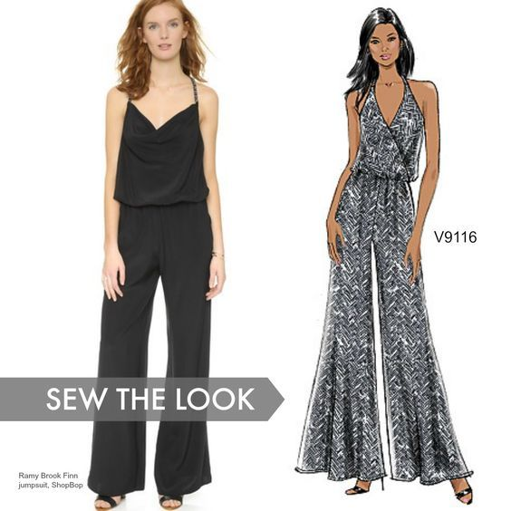 Sew the Look: Jumpsuits offer instant glam, especially in black. Try ...