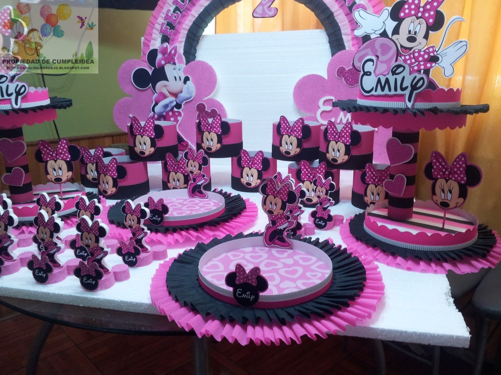 Decoraciones para fiesta decoraciones infantiles minnie for Decoracion fiestas tematicas