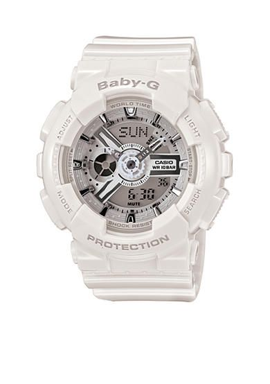 ffe35f206d424 G-Shock Women s White Analog-Digital Baby-G Watch