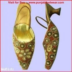 Bridal shoes Punjabi jutti Women's high heel slipper