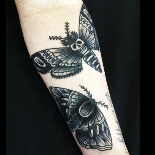 Top 150 Wolf Tattoos So Far This Year: Moth Tattoo Tumblr Moth Tattoo By Matt Cooley