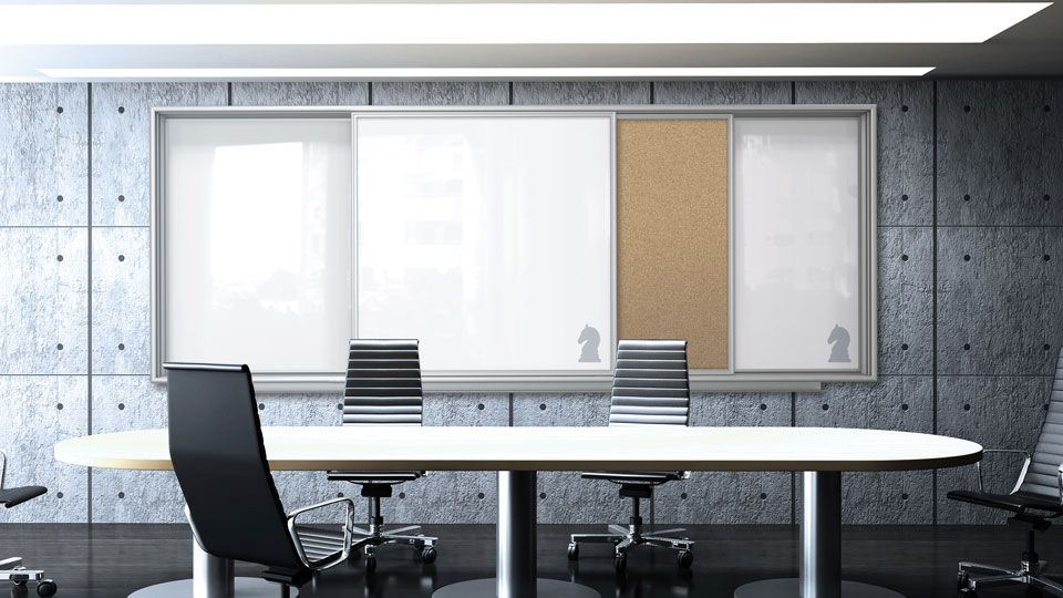 Insight Sliding Glassboard Cabinet