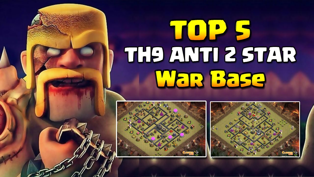 TOP 5 TH9 Anti 2 Star War Base With Images