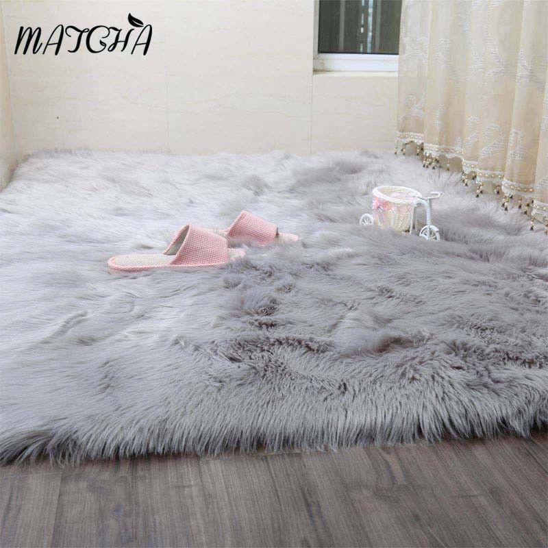 8 54 Faux Fur Sheepskin Rug Balcony Large Fluffy Mat Pad Room