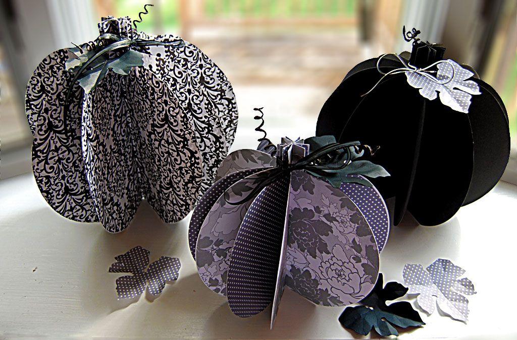 black and white pumpkin PAPER CRAFT | Paper pumpkin craft