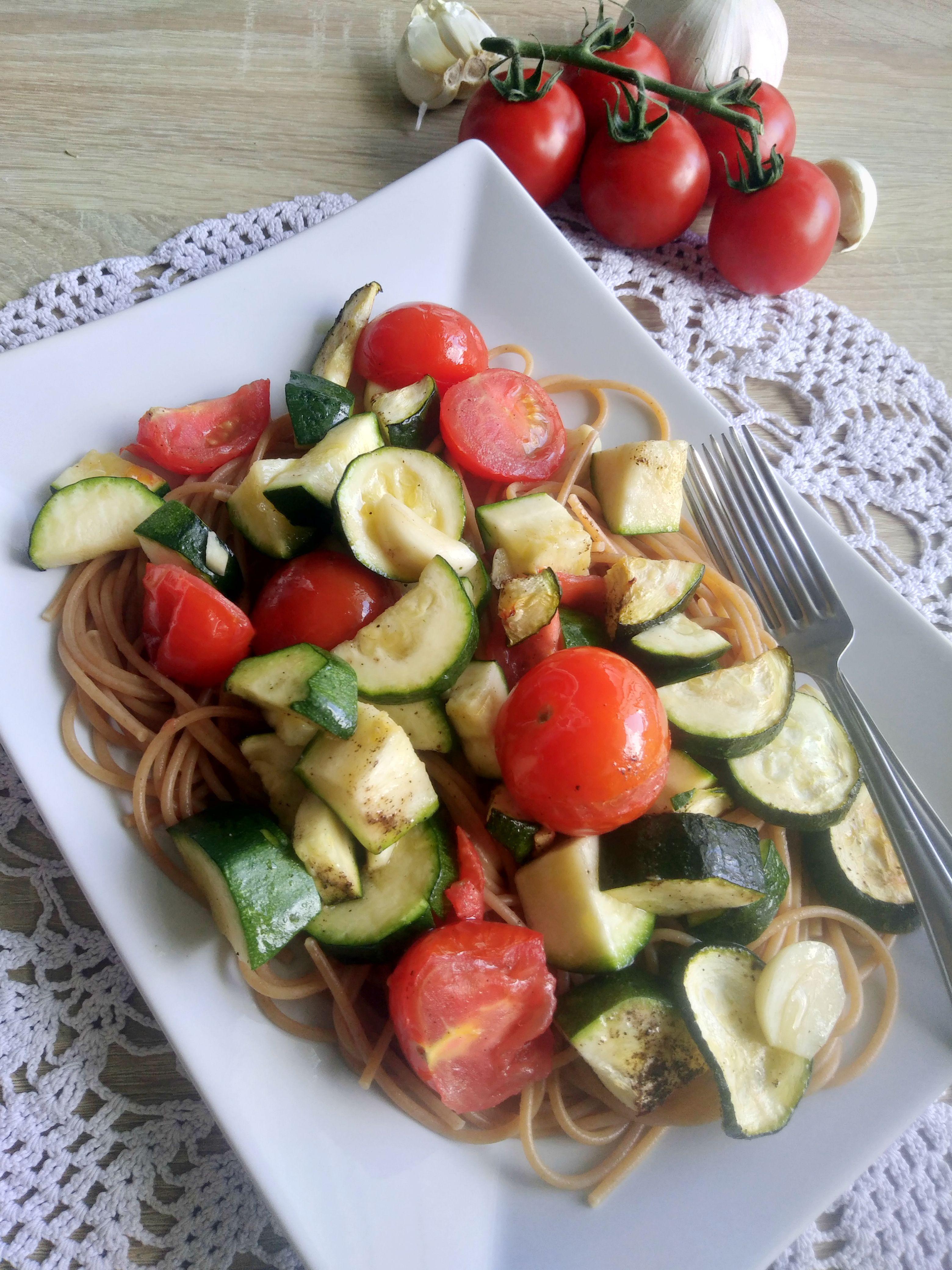 Zucchini Tomato Spaghetti