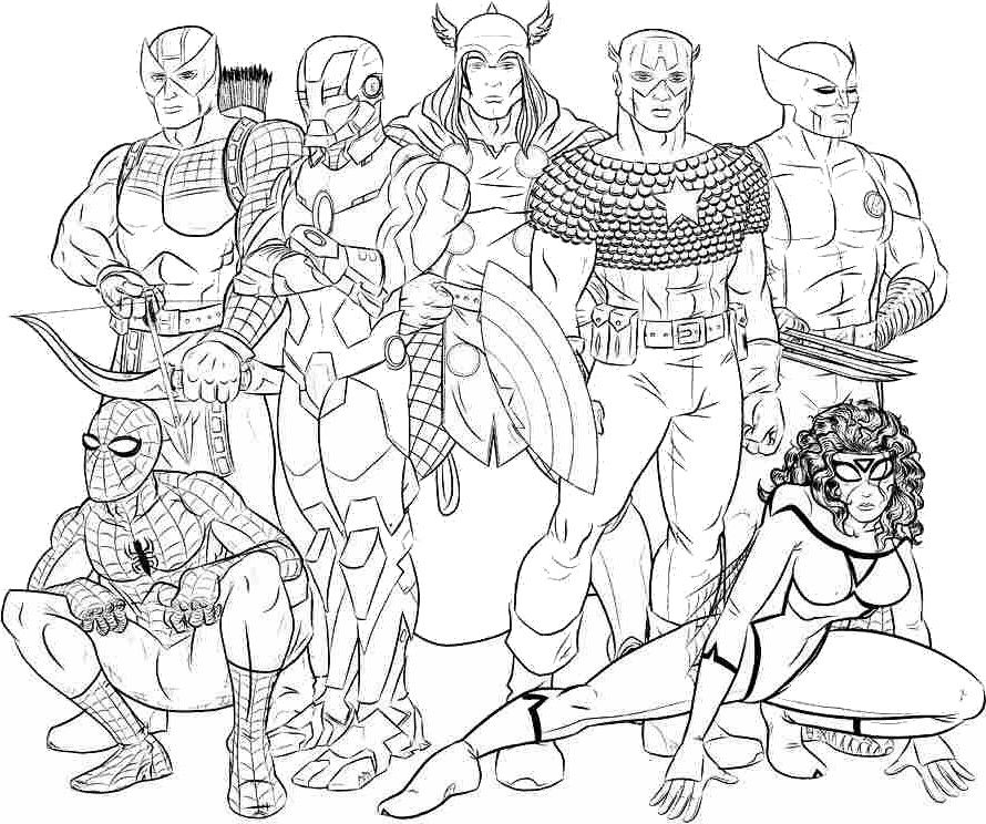 Coloriage Avengers Prennent La Pose Pictures To Color