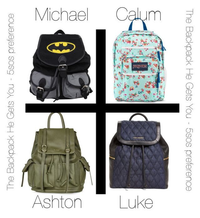 """The Backpack He Gets You - 5SOS Preference"" by hh18hh ❤ liked on Polyvore featuring JanSport, Topshop and Vera Bradley"