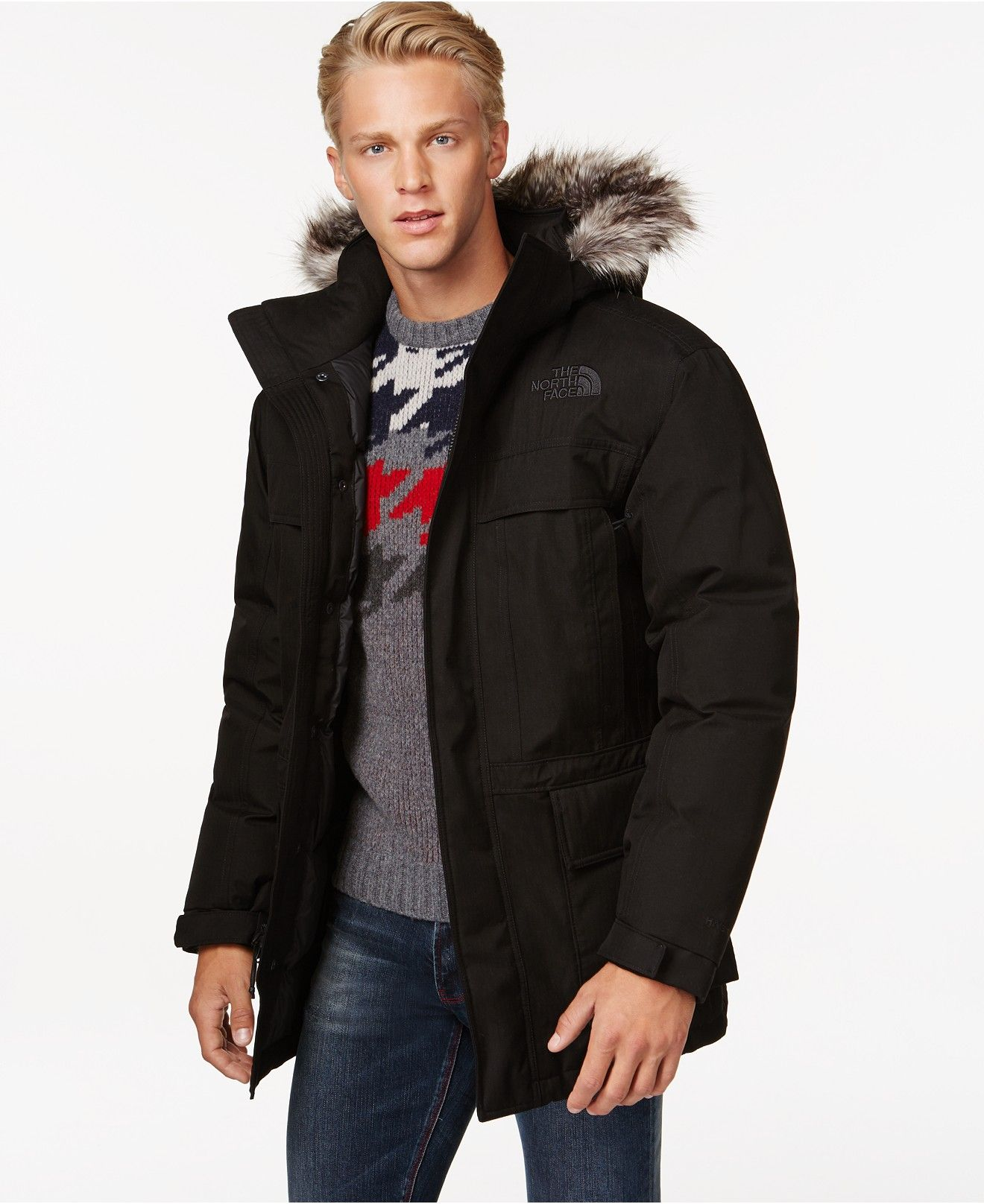 The North Face Mcmurdo Parka Ii Coats Jackets Men Macy S Mens Workout Clothes Mens Jackets North Face Parka [ 1616 x 1320 Pixel ]