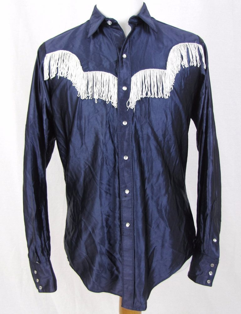 29a5a69e4e Rockmount Western Shirt Medium Vintage Pearl Snap Fringe Yoke Tru-West  Ranchwear  ROCKMOUNT  Western