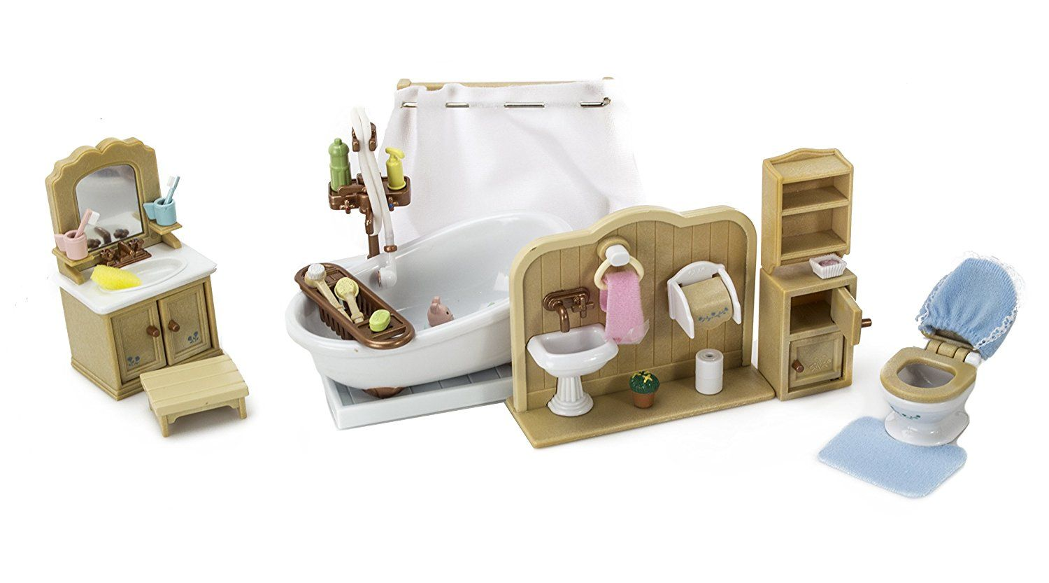Amazon.com: Calico Critters Koala Family with Bathroom Set: Toys ...