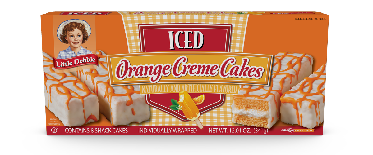 Orange Creme Cakes Little Debbie Orange Flavoured Cake Zebra Cake Orange Cake